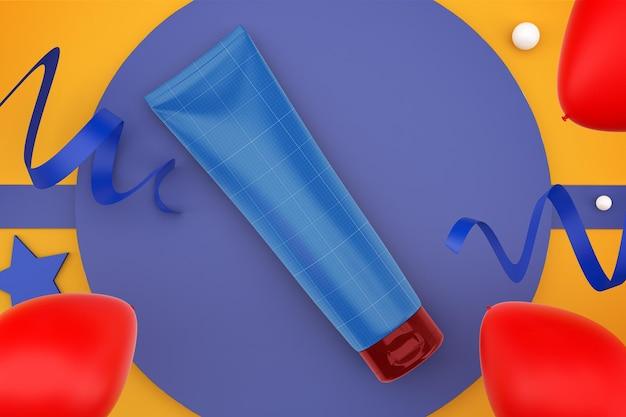 Celebrazione del tubo di crema