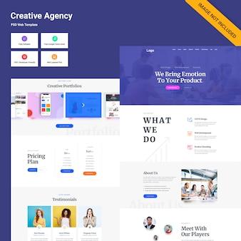 Interfaccia utente della pagina web di creative agency