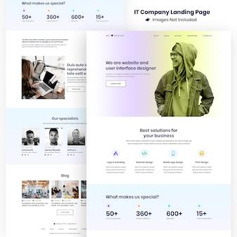 Pagina di destinazione per lo sviluppo del sito web e delle app dell'agenzia creativa
