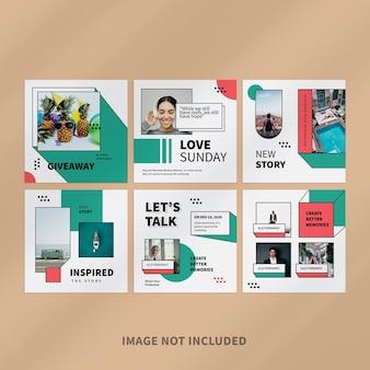 Creative blogger instagram post design