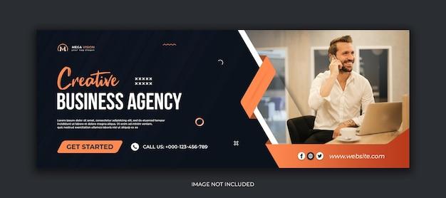 Agenzia di affari creativi modello di copertina di facebook per social media aziendali