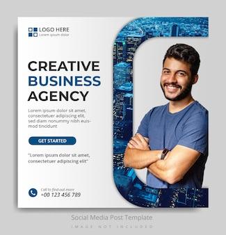 Modello di post sui social media dell'agenzia di affari creativi