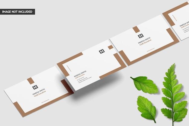 Design creativo del mockup del biglietto da visita