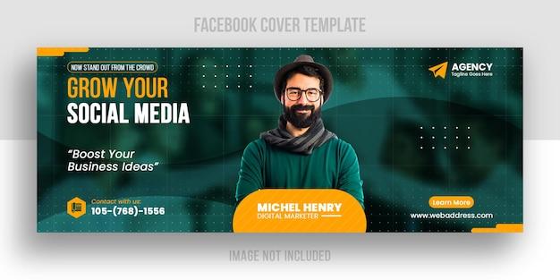 Modello di copertina dei social media di marketing aziendale creativo