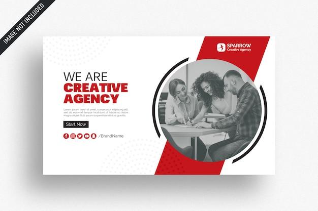 Banner di social media web aziendale creativo