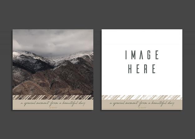 Modello di scheda creativa con immagine