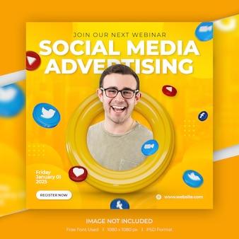 Modello di promozione post instagram social media concept creativo