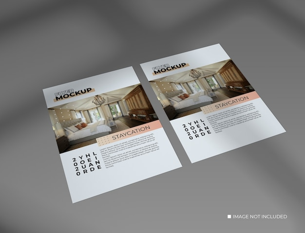Concept creativo di due mockup flyer