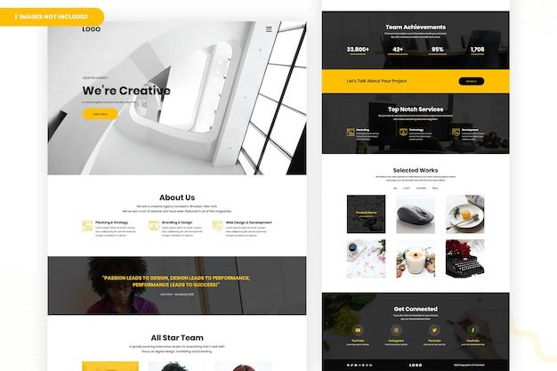Design della pagina del sito web di designer creativo