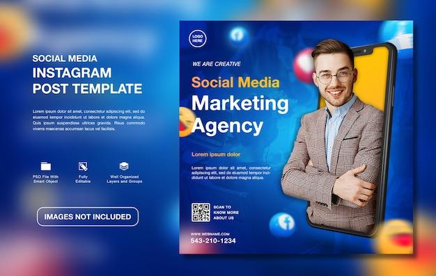 Modello di post instagram per la promozione dell'agenzia di marketing digitale creativo creative