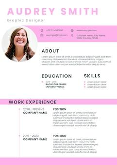Modello di cv modificabile creativo curriculum psd scaricabile per designer