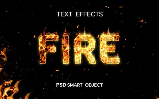 Effetto testo fuoco creativo