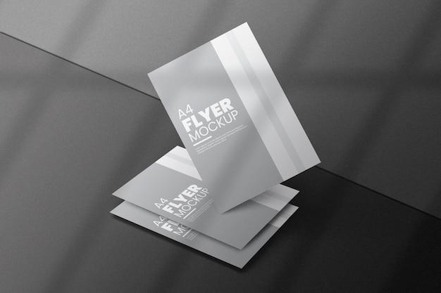 Design creativo flyer mockup