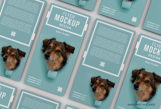 Mockup di volantino creativo per l'adozione di animali domestici