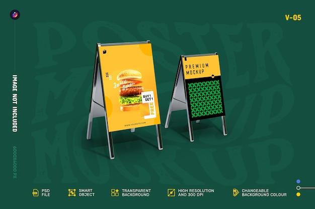 Mockup di volantini e poster creativi da mostrare