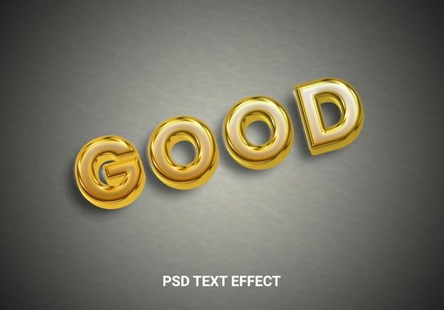 Effetto di testo in lamina d'oro creativo