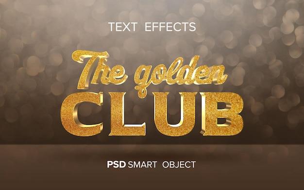 Effetto di testo dorato creativo