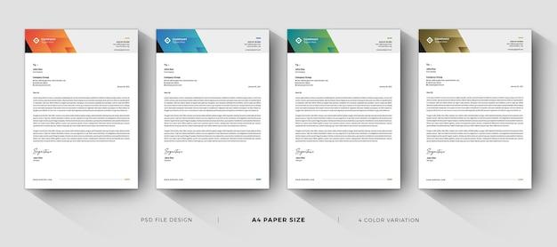 Design creativo di modelli di carta intestata professionale