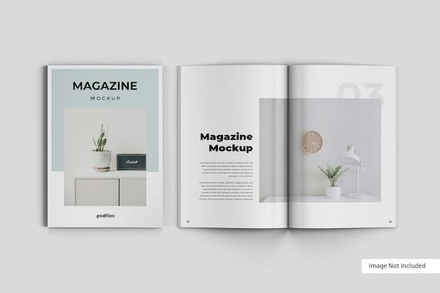 Mockup di rivista creativa