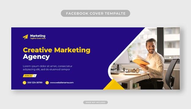 Modello di copertina di facebook moderna agenzia di marketing creativa