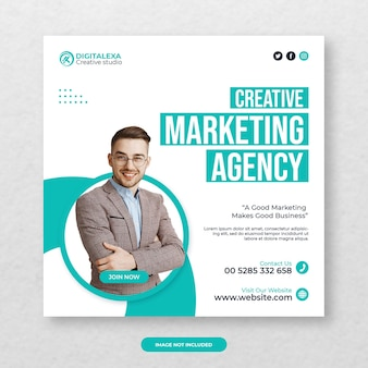 Modello di post per agenzia di marketing creativo