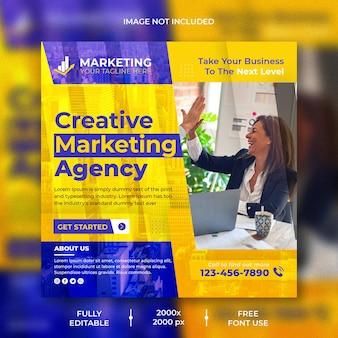 Agenzia di marketing creativo social media e design di post instagram