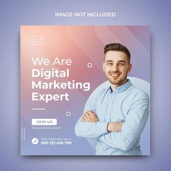 Modello di progettazione post promozione social media agenzia di marketing creativo