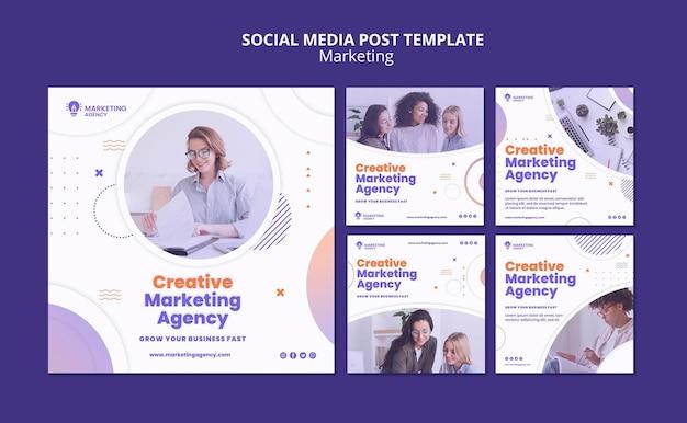 Post sui social media di marketing creativo