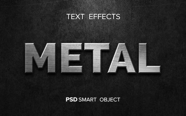 Effetto di testo metallico creativo