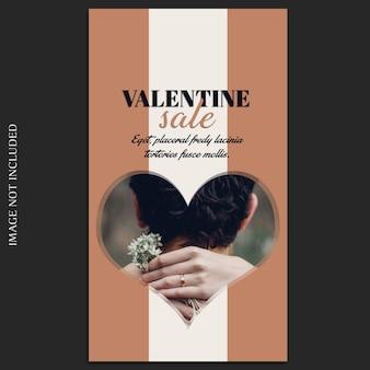 Creativo moderno romantico san valentino instagram story template e photo mockup