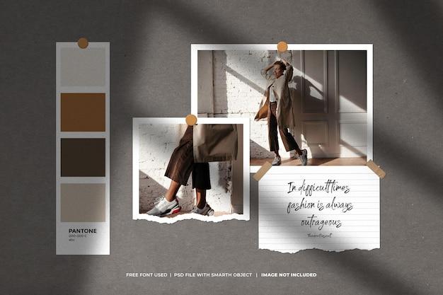 Moodboard creativo e modello di collage di foto