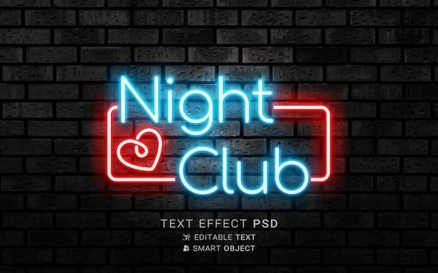 Effetto di testo al neon creativo
