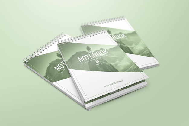 Mockup di notebook creativo