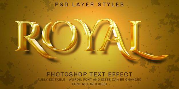 Oro romantico creativo, effetti di testo modificabili