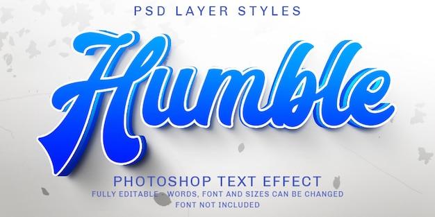 Blu reale creativo, effetti di testo modificabili
