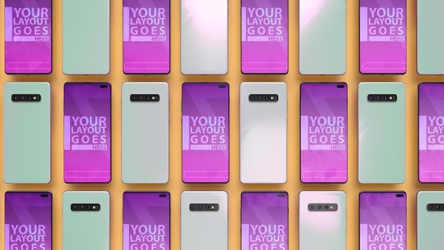 Mockup di schermo dello smartphone creativo Psd Premium