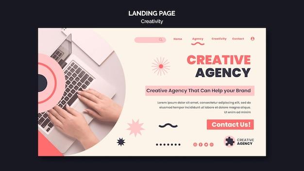 Pagina di destinazione della creatività