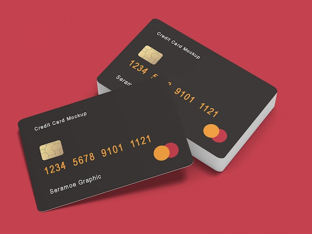 Mock-up di carte di credito / bancarie