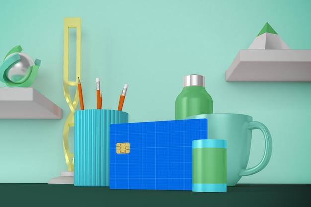 Modello di desktop con carta di credito