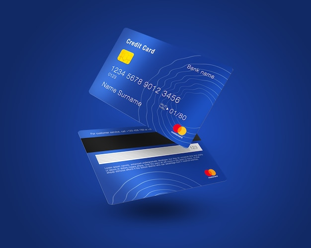 Carta di credito mock up