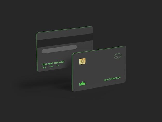 Progettazione di mockup di carta di credito nel rendering 3d