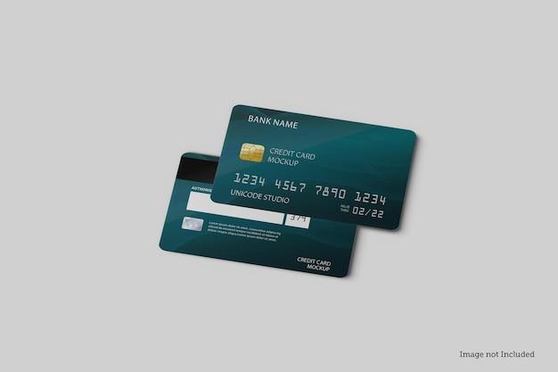 Disegni di mockup di carte di credito in rendering 3d in rendering 3d