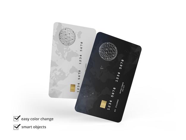 Carta di credito mockup isolato