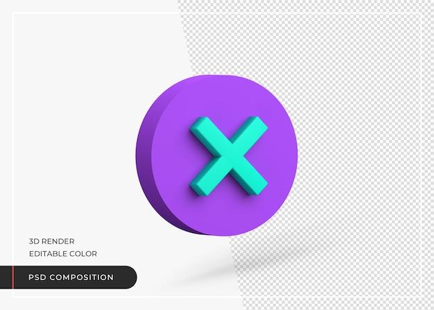 Segno di croce segno 3d rendering icona