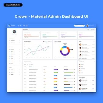 Dashboard di amministrazione crown-material