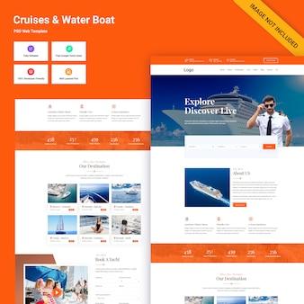 Modello di sito web di crociere