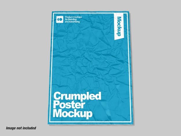 Carta stropicciata per mockup di poster o volantini