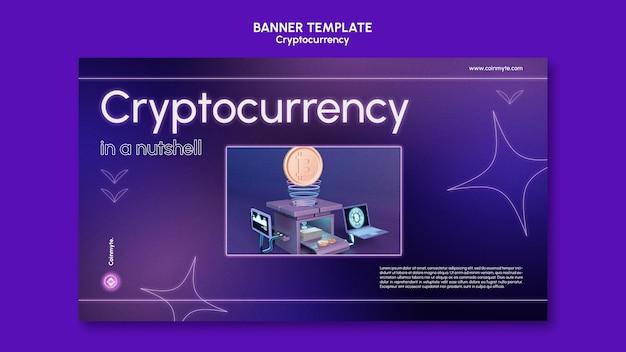 Modello di progettazione di criptovaluta di banner