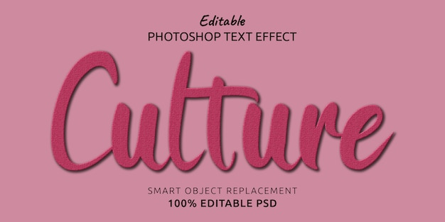 Cultura modificabile effetto testo di photoshop