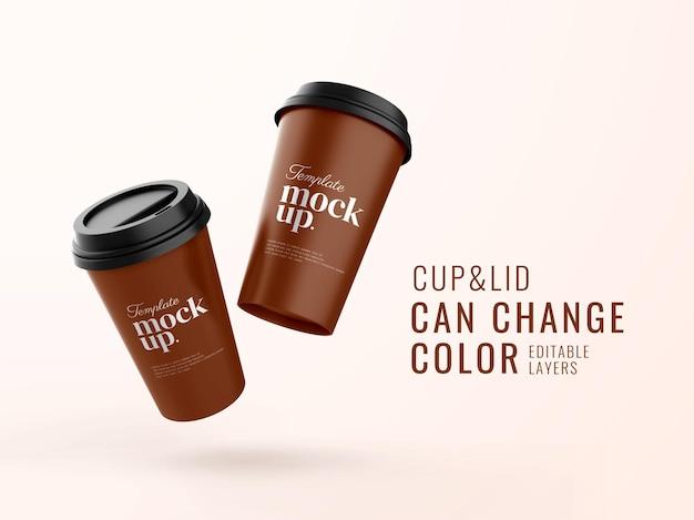 Mockup di banner tazza di caffè